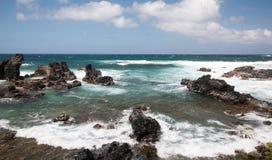 Ωκεάνιοι βράχοι Maui Στοκ φωτογραφίες με δικαίωμα ελεύθερης χρήσης