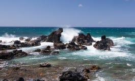 Ωκεάνιοι βράχοι Maui Στοκ εικόνα με δικαίωμα ελεύθερης χρήσης