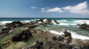 Ωκεάνιοι βράχοι Maui Στοκ εικόνες με δικαίωμα ελεύθερης χρήσης