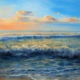 Ωκεάνιοι κύματα και ουρανός Στοκ φωτογραφία με δικαίωμα ελεύθερης χρήσης