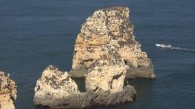 Ωκεάνιοι σχηματισμοί βράχου απόθεμα βίντεο