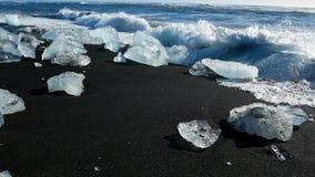 Ωκεάνιος ήλιος χειμερινού πάγου απόθεμα βίντεο
