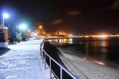 ωκεάνιος ειρηνικός νύχτα&si Στοκ Εικόνες