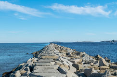 Ωκεάνιος λιμενοβραχίονας Στοκ εικόνα με δικαίωμα ελεύθερης χρήσης