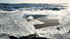 Ωκεάνιος μπλε παγετώνας πάγου φιλμ μικρού μήκους