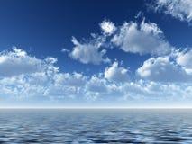ωκεάνιος ουρανός Στοκ Φωτογραφίες