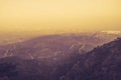 Ωκεάνιο δέντρο ήλιων βράχων ομίχλης βουνών Στοκ εικόνα με δικαίωμα ελεύθερης χρήσης