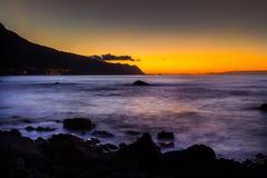 Ωκεάνιο ατλαντικό Σάο Vicente Madera ηλιοβασιλέματος Στοκ Εικόνες