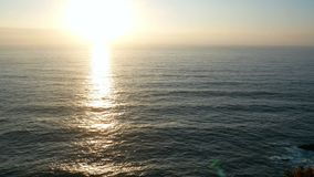 ωκεάνιο ηλιοβασίλεμα τοπίων απόθεμα βίντεο
