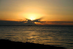ωκεάνιο ηλιοβασίλεμα Στοκ Φωτογραφία