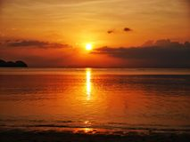 ωκεάνιο ηλιοβασίλεμα τ&e Στοκ φωτογραφίες με δικαίωμα ελεύθερης χρήσης