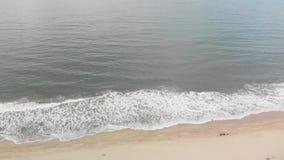 Ωκεάνιο κύμα που κυλά μέσα από την ακτή Καλιφόρνιας απόθεμα βίντεο