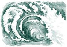ωκεάνιο κύμα ελεύθερη απεικόνιση δικαιώματος