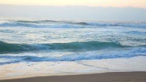 Ωκεάνιο νερό παραλιών κυμάτων απόθεμα βίντεο