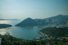 Ωκεάνιο πάρκο και παράβλεψη της Θάλασσας της Νότιας Κίνας στον ωκεάνιο πύργο πάρκων πάρκων ωκεάνιο Στοκ Εικόνα