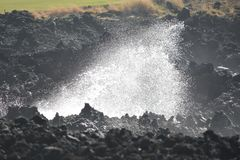 Ωκεάνιο σπάσιμο στη λάβα Στοκ φωτογραφία με δικαίωμα ελεύθερης χρήσης