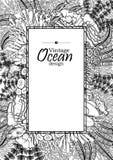 Ωκεάνιο σχέδιο τέχνης γραμμών ελεύθερη απεικόνιση δικαιώματος