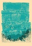 Ωκεάνιο υποβρύχιο υπόβαθρο για το σχέδιο Εκλεκτής ποιότητας αφίσα θάλασσας Στοκ Εικόνες