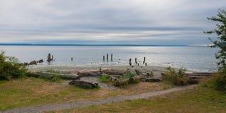 ωκεάνιο ύδωρ όψης ουρανού σύννεφων Στοκ φωτογραφία με δικαίωμα ελεύθερης χρήσης