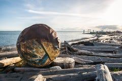Ωκεάνιο debree στο Βανκούβερ Στοκ φωτογραφία με δικαίωμα ελεύθερης χρήσης