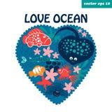 Ωκεανός αγάπης Στοκ φωτογραφία με δικαίωμα ελεύθερης χρήσης