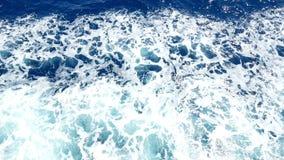 Ωκεανός κίνησης κυμάτων σκαφών φιλμ μικρού μήκους
