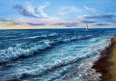 Ωκεανός και κύματα Στοκ εικόνα με δικαίωμα ελεύθερης χρήσης