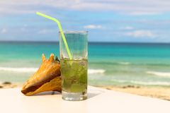 Ωκεανός και mojitos, Κούβα, Varadero Στοκ εικόνα με δικαίωμα ελεύθερης χρήσης