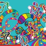 Ωκεανός κυμάτων μουσικής διανυσματική απεικόνιση