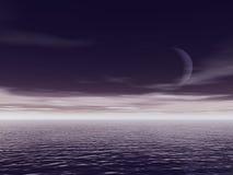 ωκεανός νύχτας Στοκ Εικόνα