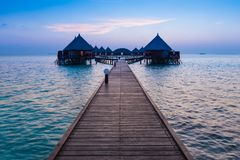 ωκεανός πέρα από το ηλιοβασίλεμα Angaga Στοκ φωτογραφίες με δικαίωμα ελεύθερης χρήσης