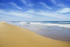 ωκεανός παραλιών αμμώδης Στοκ εικόνες με δικαίωμα ελεύθερης χρήσης