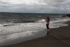 ωκεανός παραλιών αμμώδης Στοκ εικόνα με δικαίωμα ελεύθερης χρήσης