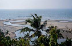 ωκεανός παραλιών αμμώδης Στοκ Εικόνες