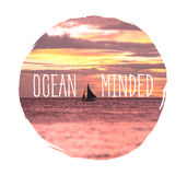 Ωκεανός που απασχολείται Στοκ εικόνες με δικαίωμα ελεύθερης χρήσης
