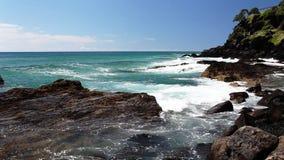 Ωκεανός στην παραλία Αυστραλία Kingscliff απόθεμα βίντεο