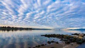ωκεανός σύννεφων στοκ φωτογραφίες