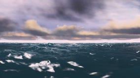 Ωκεανός Timelapse και βίντεο σύννεφων απόθεμα βίντεο