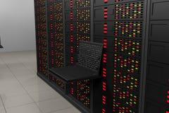 Δωμάτιο κεντρικών υπολογιστών Στοκ Φωτογραφία
