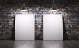 Δωμάτιο με δύο αφίσες Στοκ φωτογραφίες με δικαίωμα ελεύθερης χρήσης
