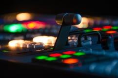 Δωμάτιο τηλεοπτικής ραδιοφωνικής μετάδοσης Στοκ εικόνες με δικαίωμα ελεύθερης χρήσης