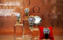 ωμέγα ρολόγια Στοκ Εικόνες