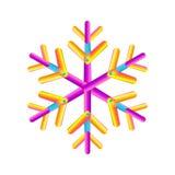 Ωοειδές γεωμετρικό snowflake λουρίδων εικονίδιο Η καθιερώνουσα τη μόδα κλίση διαμορφώνει τη σύνθεση Νέο διάνυσμα χειμερινών εικον Στοκ Εικόνες
