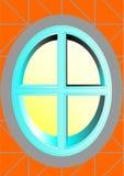 ωοειδές παράθυρο Στοκ Εικόνες