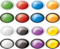 ωοειδές πλαίσιο γυαλιού κουμπιών Στοκ Εικόνα