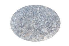 Ωοειδή γκρίζα χαλίκια κύκλων, που απομονώνονται στο άσπρο υπόβαθρο Στοκ Εικόνες