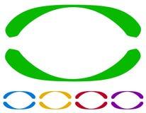 Ωοειδή πλαίσια - σύνορα σε πέντε χρώματα ζωηρόχρωμα στοιχεία σχε&delta Στοκ εικόνα με δικαίωμα ελεύθερης χρήσης