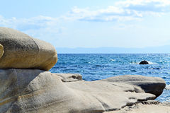 Ωοειδείς παράκτιοι βράχοι Δ Στοκ Εικόνα