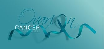 Ωοθηκικό σχέδιο αφισών καλλιγραφίας συνειδητοποίησης καρκίνου Ρεαλιστική κορδέλλα κιρκιριών Σεπτέμβριος είναι μήνας συνειδητοποίη απεικόνιση αποθεμάτων