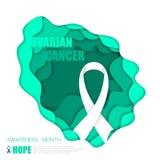 Ωοθηκικό υπόβαθρο καρκίνου διανυσματική απεικόνιση